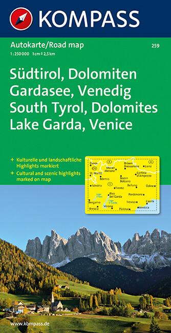 Südtirol - Dolomiten - Gardasee - Venedig 1 : 250 000 als Buch