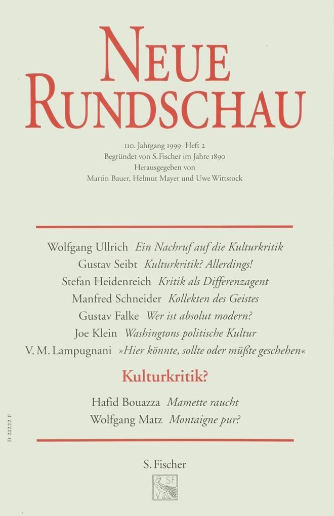 Neue Rundschau 99/2 als Buch