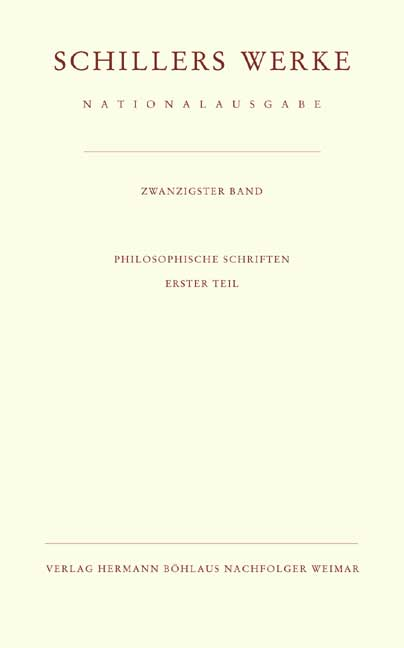 Schillers Werke. Nationalausgabe Band 39, Teil II als Buch