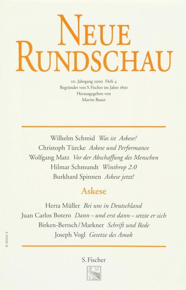 Neue Rundschau 2000/4 als Buch