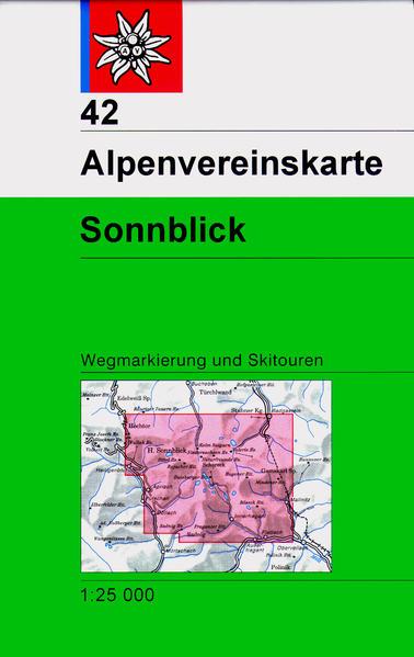 DAV Alpenvereinskarte 42 Sonnblick 1 : 25 000 Wegmarkierung als Buch