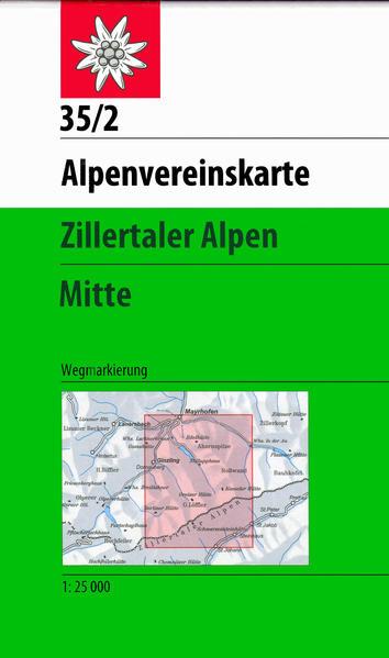 DAV Alpenvereinskarte 35/2 Zillertaler Alpen Mitte 1 : 25 000 als Buch