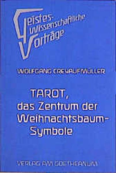 Tarot, das Zentrum der Weihnachtsbaumsymbole als Buch