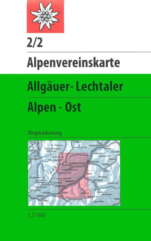 DAV Alpenvereinskarte 02/2 Allgäuer - Lechtaler Alpen Ost 1 : 25 000 als Buch