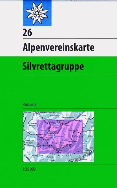 DAV Alpenvereinskarte 26 Silvrettagruppe 1 : 25 000 Skirouten als Buch