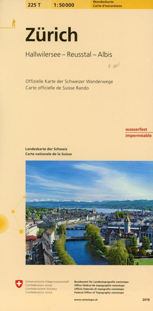 Swisstopo 1 : 50 000 Zürich als Buch