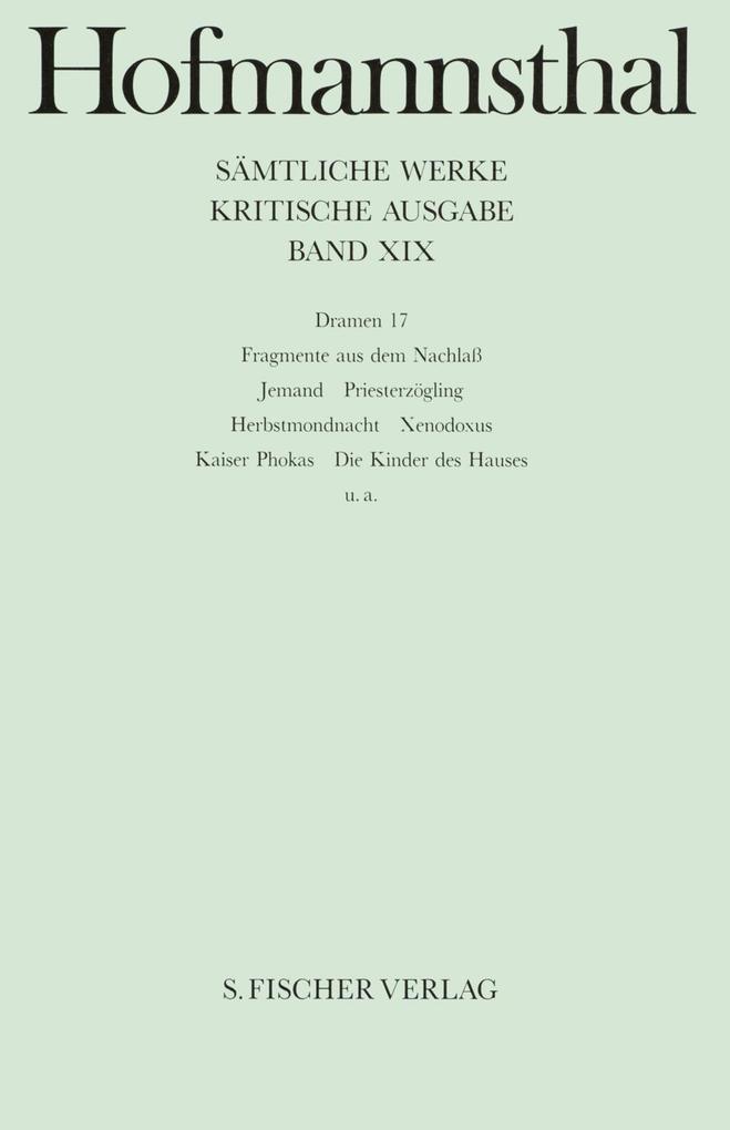 Dramen XVII als Buch