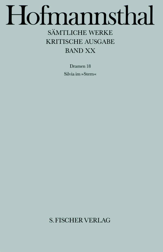 Dramen XVIII. Silvia im Stern als Buch