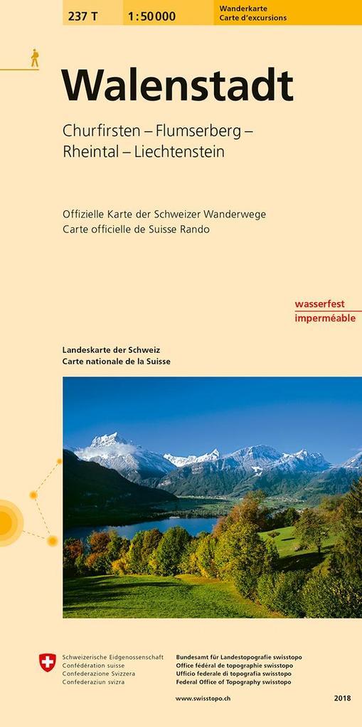 Swisstopo 1 : 50 000 Walenstadt als Buch