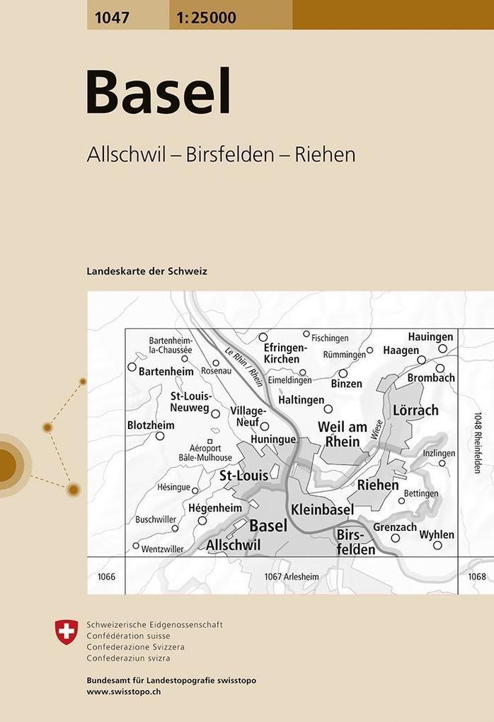 Swisstopo 1 : 25 000 Basel als Buch