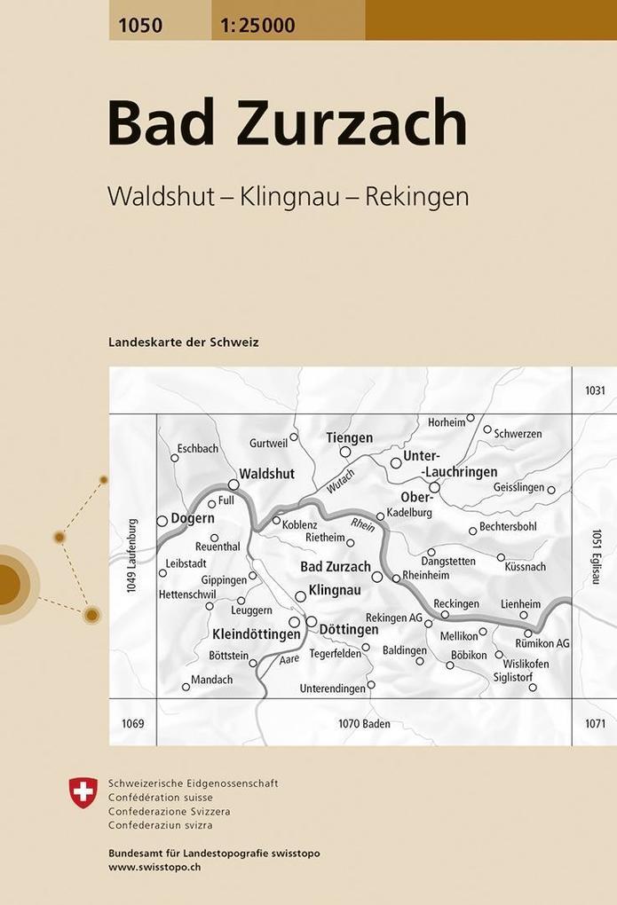 Swisstopo 1 : 25 000 Bad Zurzach als Buch