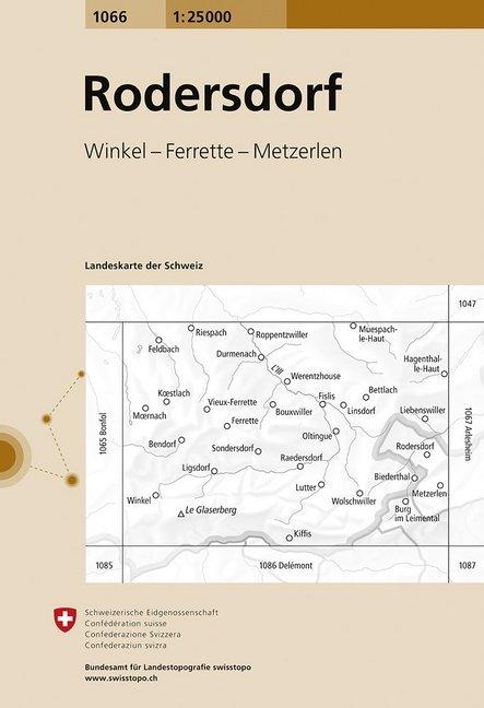 Swisstopo 1 : 25 000 Rodersdorf als Buch