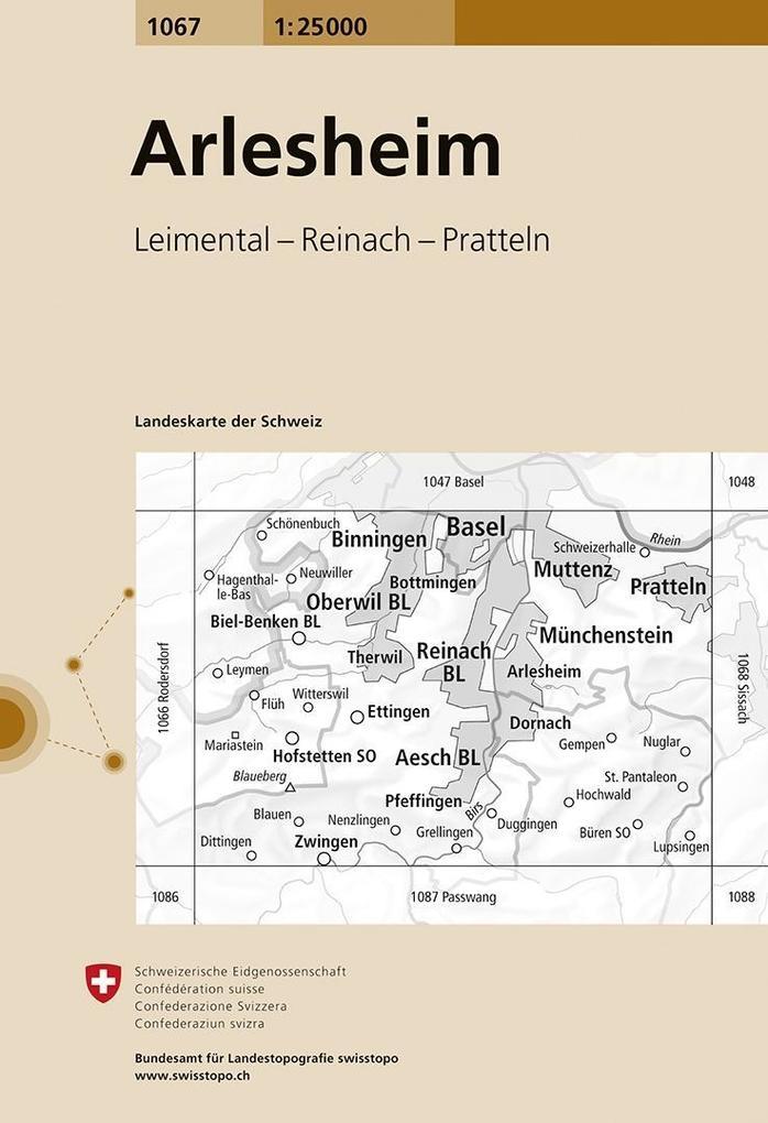 Swisstopo 1 : 25 000 Arlesheim als Buch
