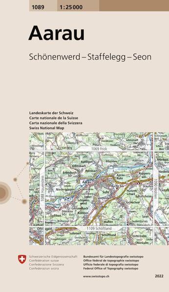Swisstopo 1 : 25 000 Aarau als Buch