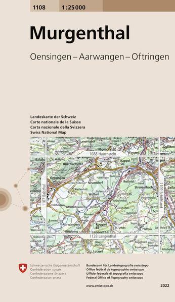 Swisstopo 1 : 25 000 Murgenthal als Buch