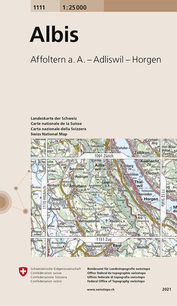 Swisstopo 1 : 25 000 Albis als Buch