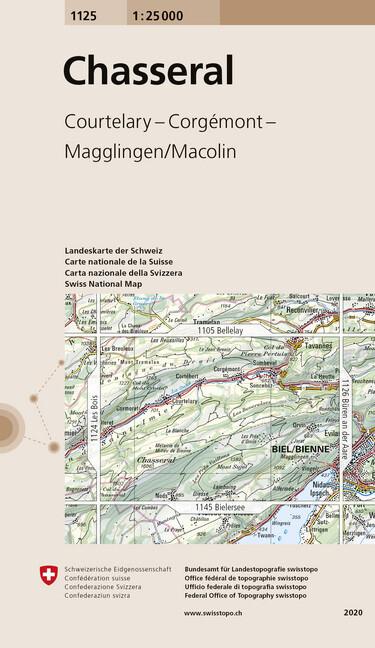 Swisstopo 1 : 25 000 Chasseral als Buch
