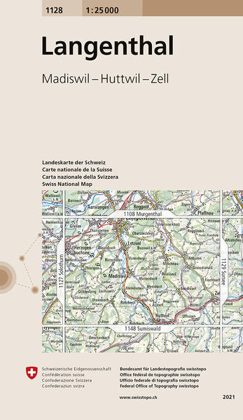 Swisstopo 1 : 25 000 Langenthal als Buch