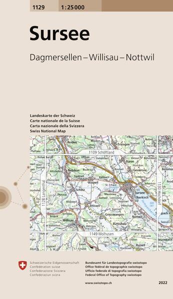Swisstopo 1 : 25 000 Sursee als Buch