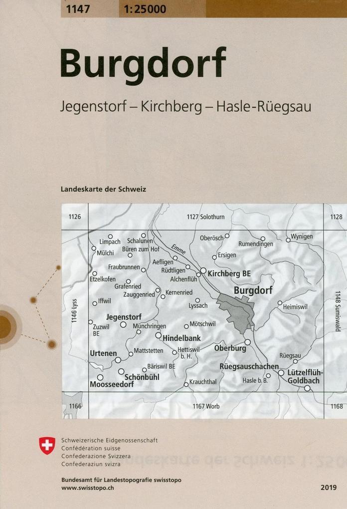 Swisstopo 1 : 25 000 Burgdorf als Buch