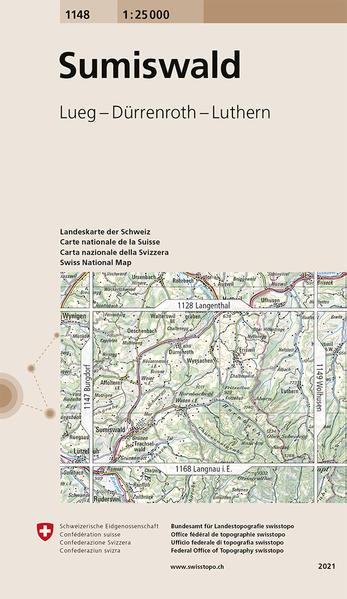Swisstopo 1 : 25 000 Sumiswald als Buch