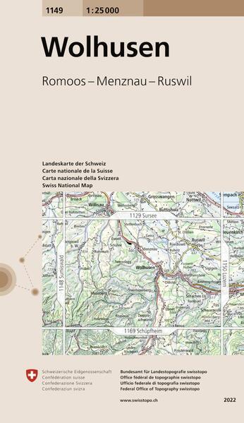Swisstopo 1 : 25 000 Wolhusen als Buch