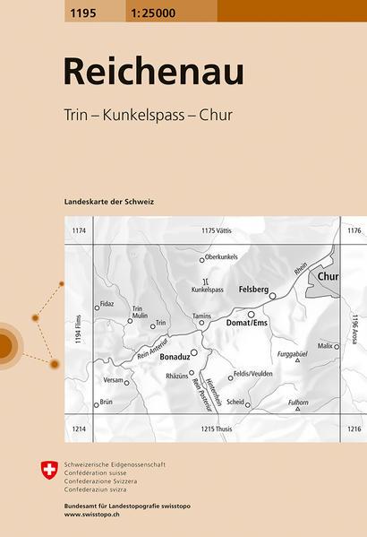 Swisstopo 1 : 25 000 Reichenau als Buch