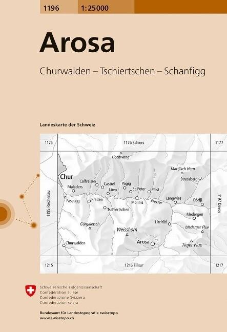 Swisstopo 1 : 25 000 Arosa als Buch