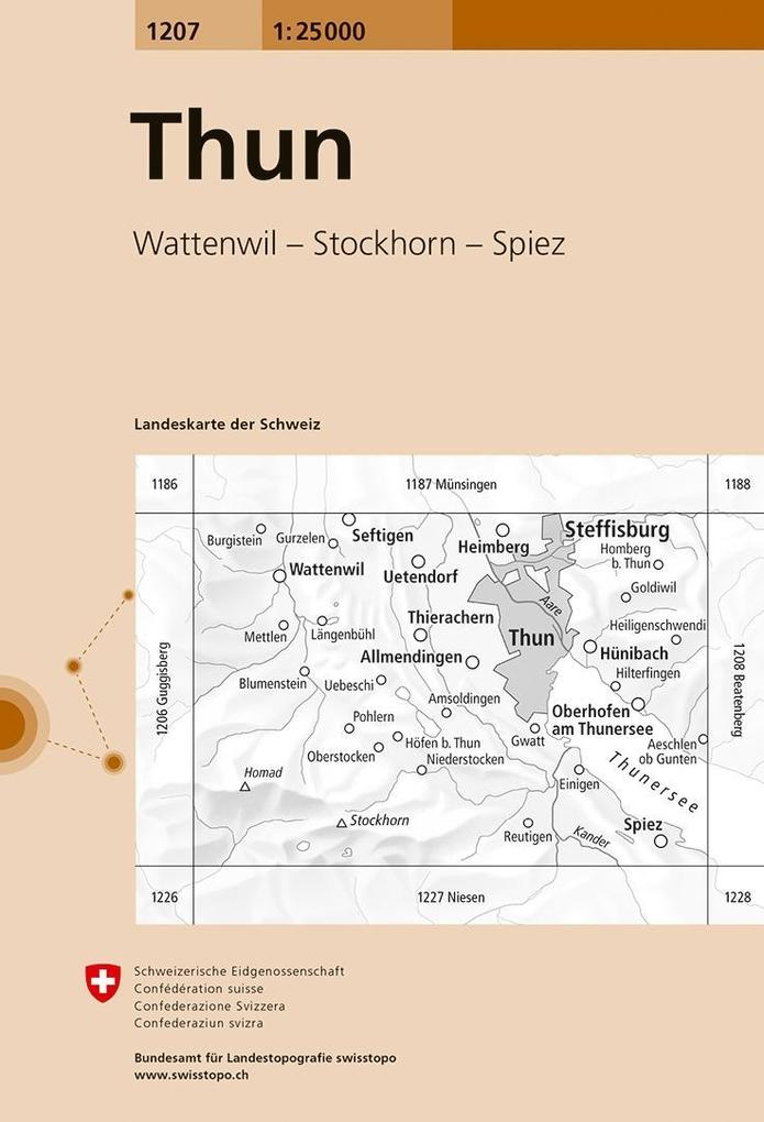 Swisstopo 1 : 25 000 Thun als Buch