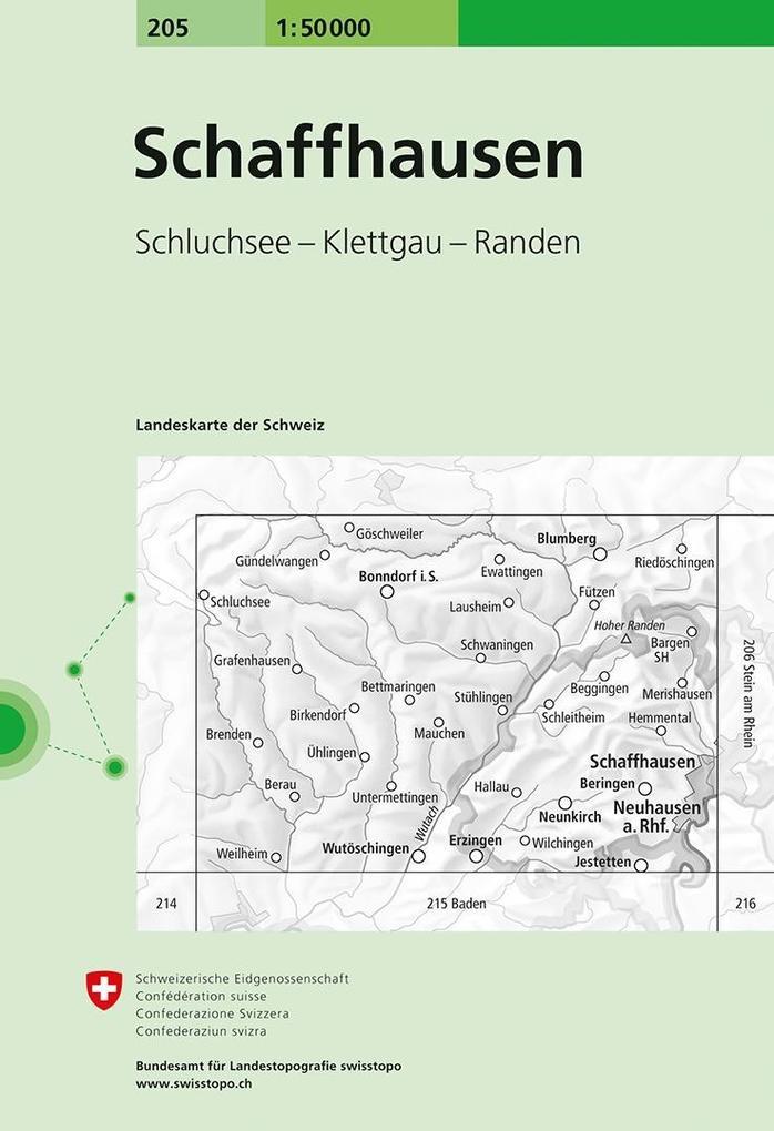 Swisstopo 1 : 50 000 Schaffhausen als Buch