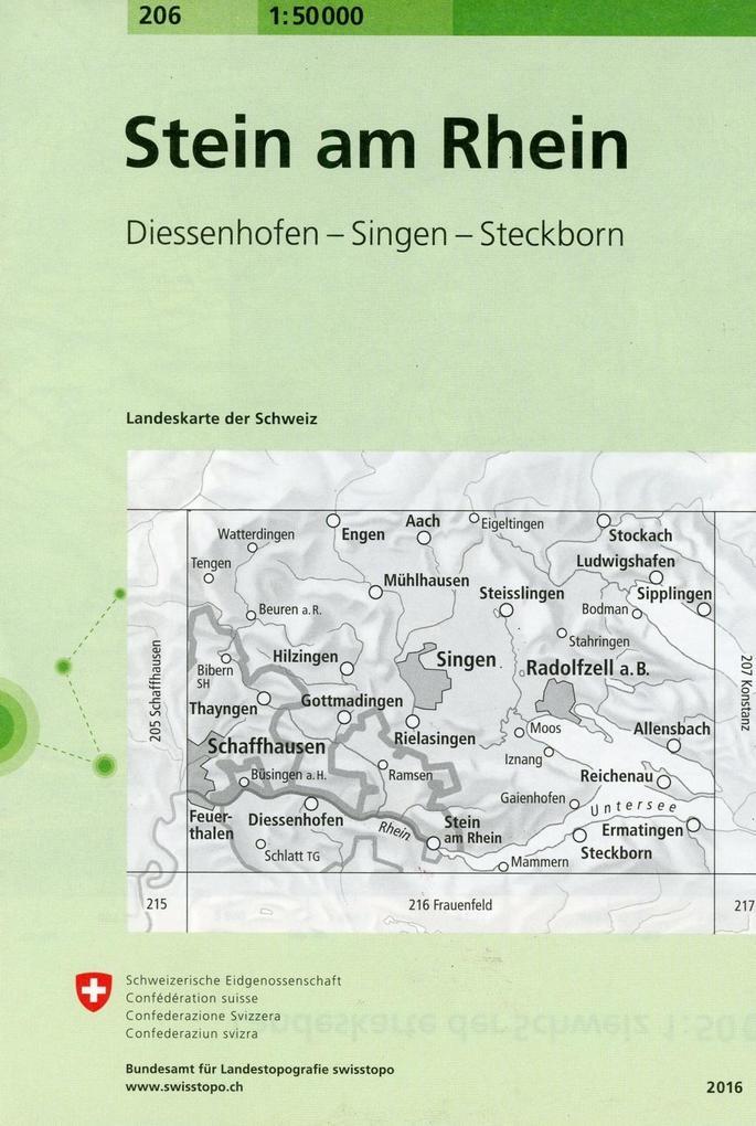 Swisstopo 1 : 50 000 Stein am Rhein als Buch