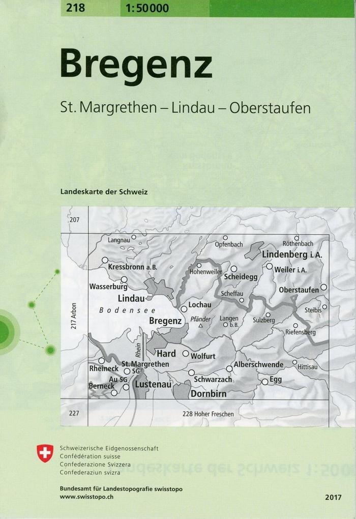Swisstopo 1 : 50 000 Bregenz als Buch