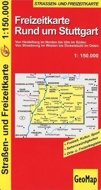 Freizeitkarte Rund um Stuttgart 1 : 150 000 als Buch