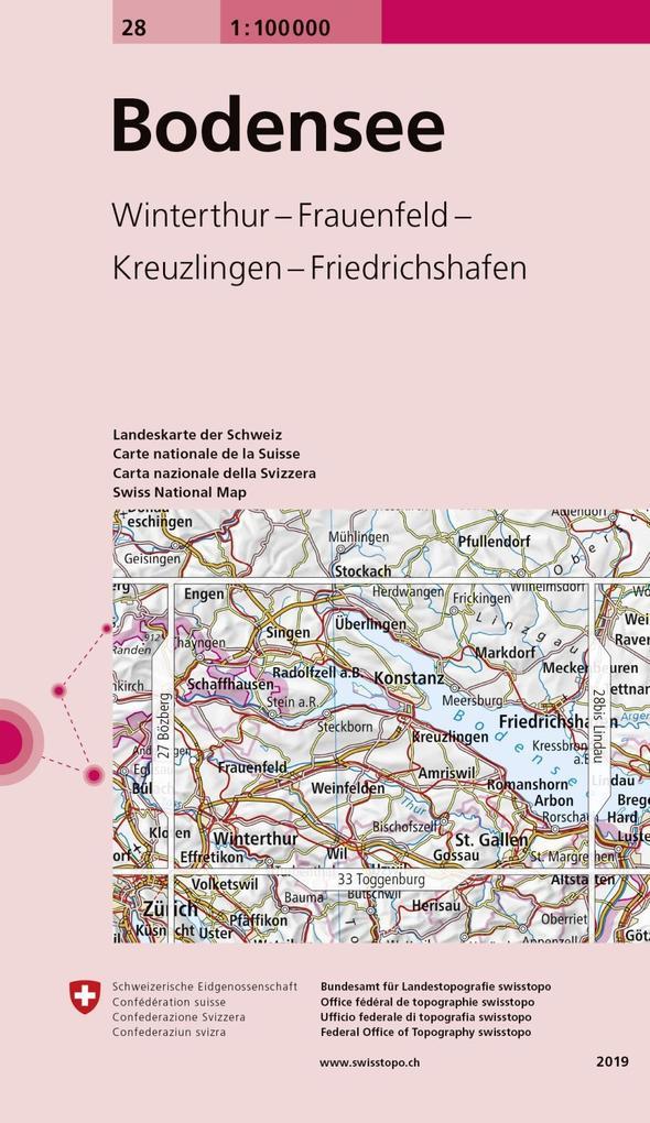 Swisstopo 1 : 100 000 Bodensee als Buch