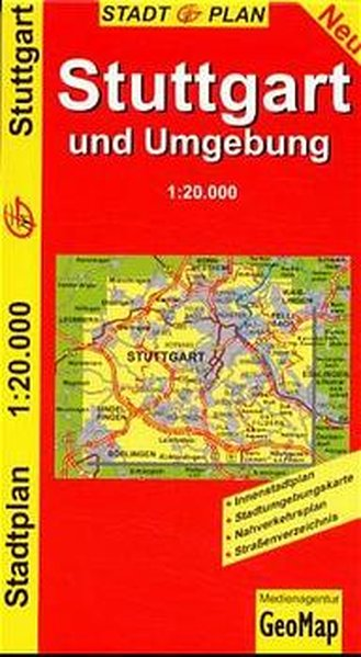 Citymap Stuttgart und Umgebung 1 : 20 000 als Buch