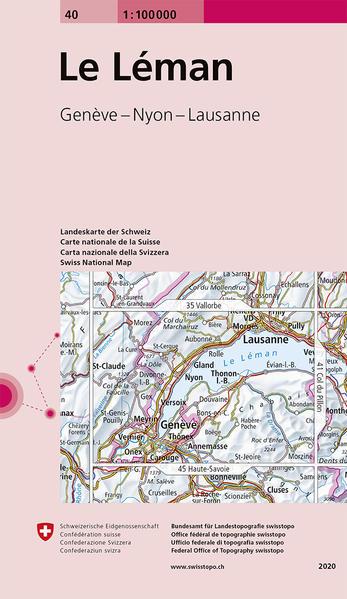 Swisstopo 1 : 100 000 Le Léman als Buch