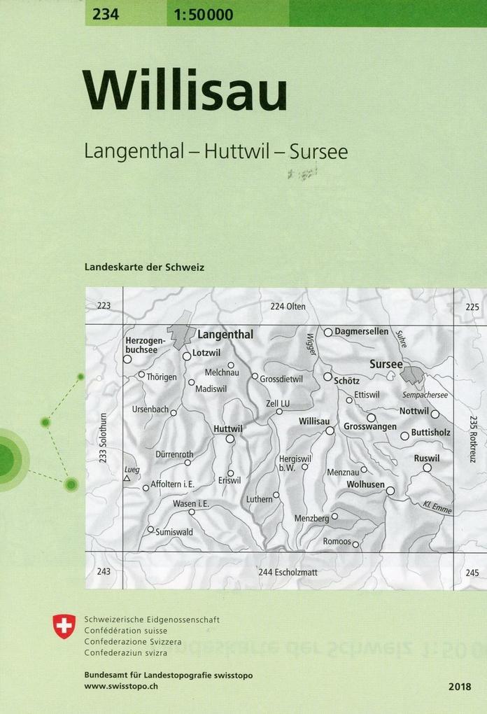 Swisstopo 1 : 50 000 Willisau als Buch