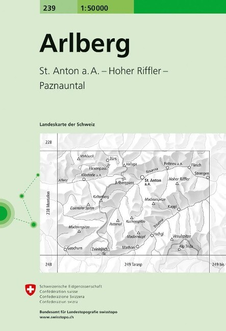 Swisstopo 1 : 50 000 Arlberg als Buch