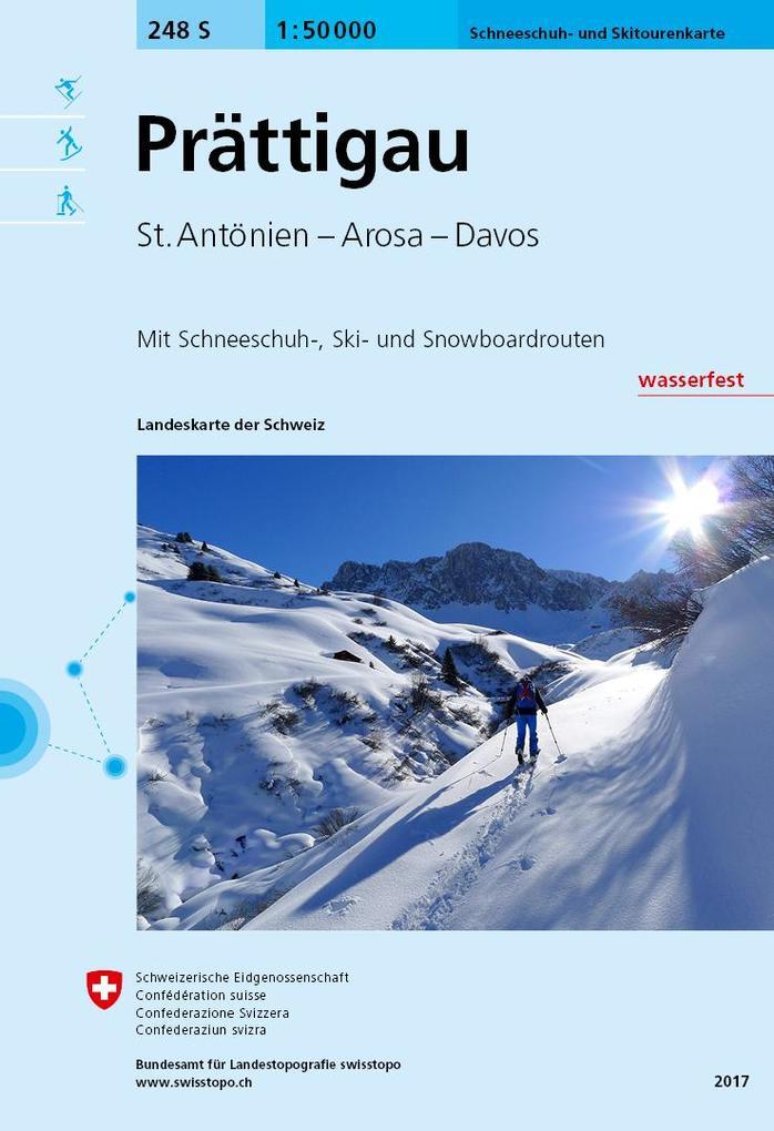 Swisstopo 1 : 50 000 Prättigau Ski als Buch
