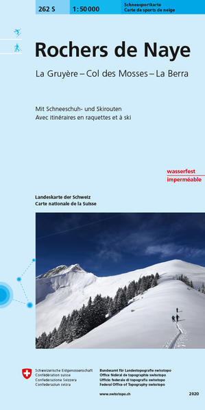 Swisstopo 1 : 50 000 Rochers de Naye Ski als Buch