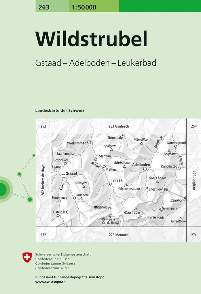 Swisstopo 1 : 50 000 Wildtrubel als Buch