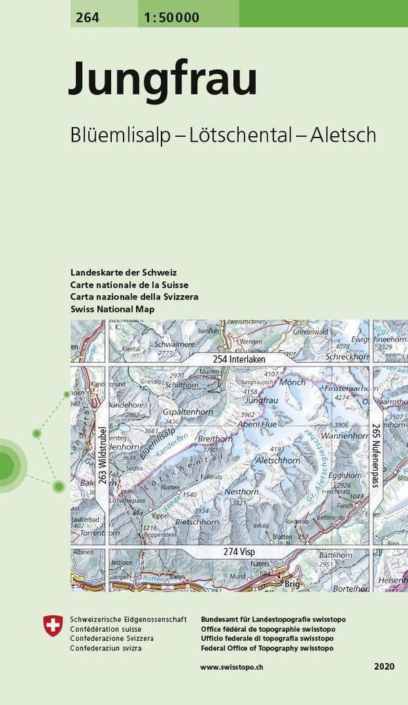 Swisstopo 1 : 50 000 Jungfrau als Buch