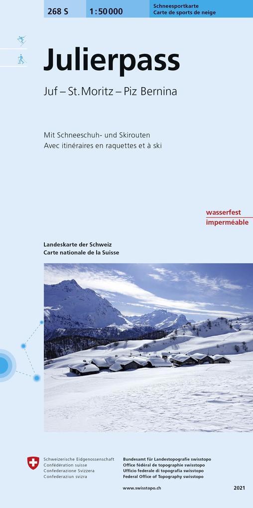 Swisstopo 1 : 50 000 Julierpass - Pass Dal Güglia Skitourenkarte als Buch