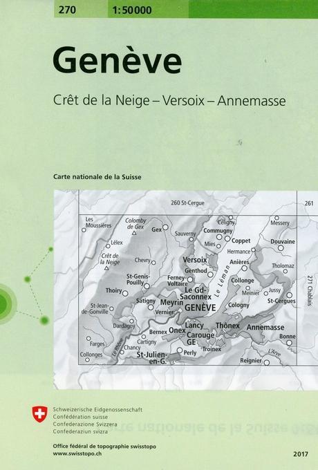 Swisstopo Geneve 1 : 50 000 als Buch