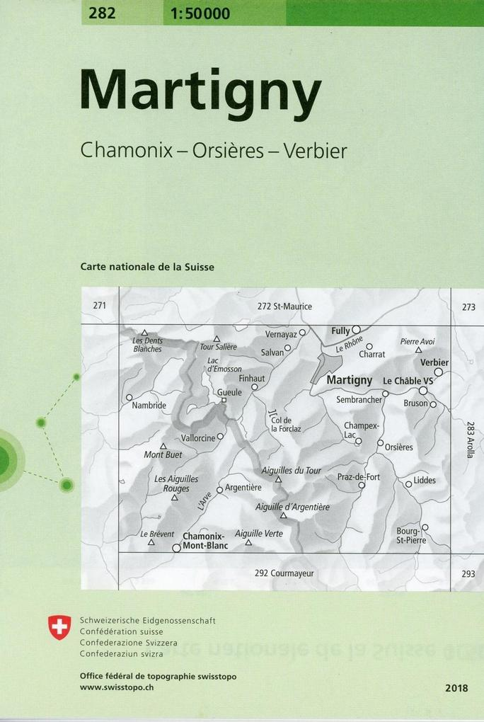 Swisstopo 1 : 50 000 Martigny als Buch