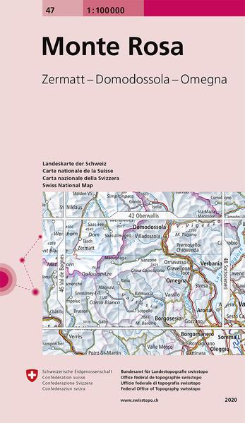 Swisstopo 1 : 100 000 Monte Rosa als Buch