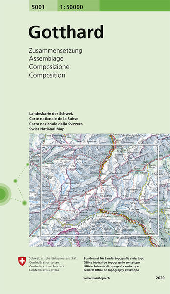 Swisstopo 1 : 50 000 Gotthard als Buch
