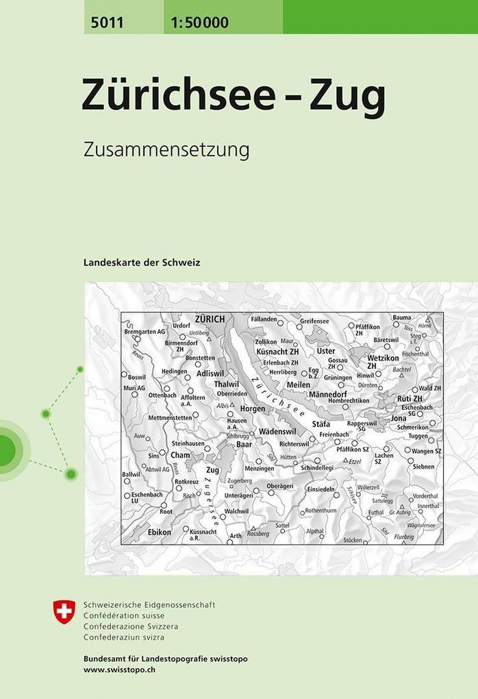 Swisstopo 1 : 50 000 Zürichsee - Zug als Buch
