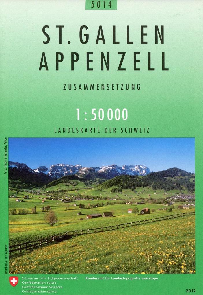 Swisstopo 1 : 50 000 St. Gallen Appenzell als Buch