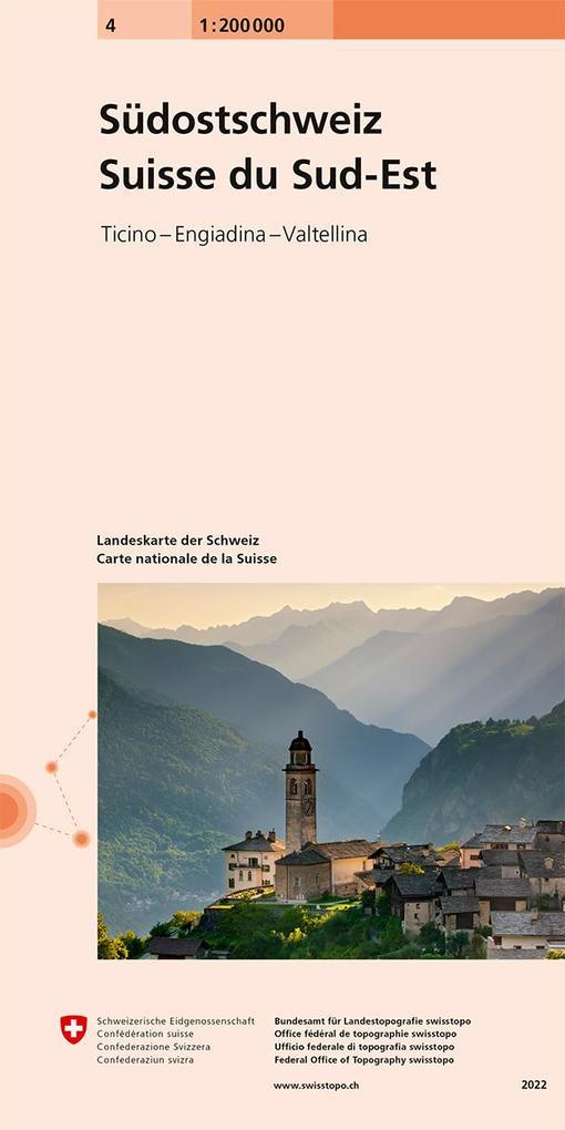 Swisstopo Schweiz Süd-Ost 1 : 200 000 als Buch